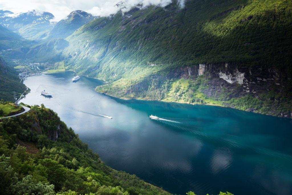 Beautiful views in Geiranger, Geirangerfjord, Norway